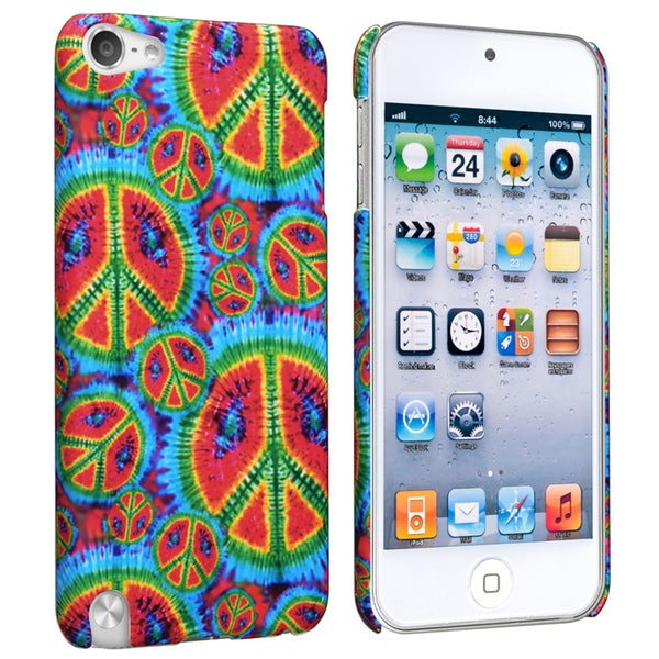 BasAcc Peace Rear Rubber Coated Case for Apple iPod Touch Generation 5