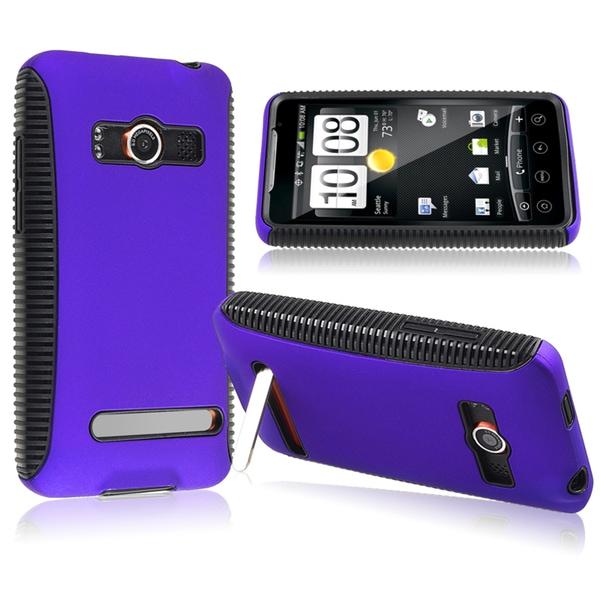 BasAcc Black/ Blue Hybrid Case for HTC EVO 4G