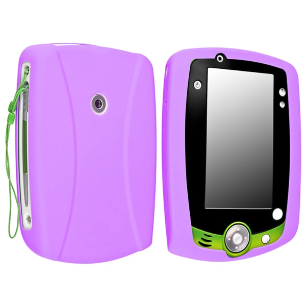 INSTEN Purple Soft Silicone Phone Case Cover for LeapFrog LeapPad 2