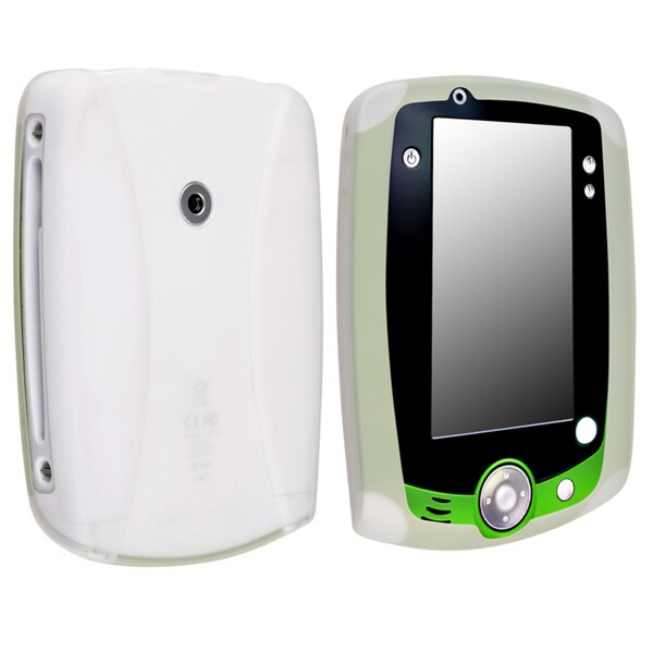 INSTEN Clear White Soft Silicone Phone Case Cover for LeapFrog LeapPad 2