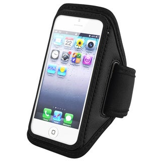 INSTEN Black Deluxe Gym Running Exercise Sportband for Apple iPhone 5/ 5S/ 5C/ SE, iPod Touch Gen 5/ 6