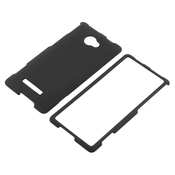 BasAcc Black Snap-on Rubber Coated Case for HTC Windows Phone 8X