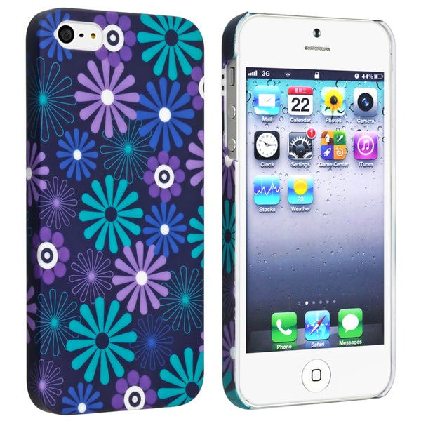 BasAcc Flower Rear Style 31 Rubber Coated Case for Apple iPhone 5