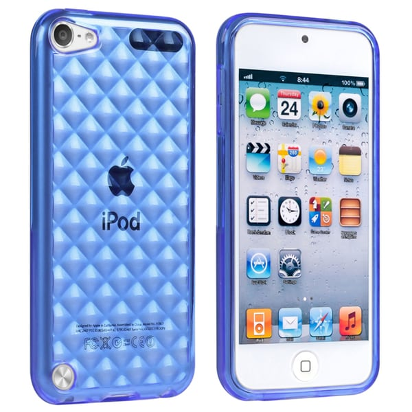 BasAcc Clear Dark Blue TPU Case for Apple iPod Touch Generation 5