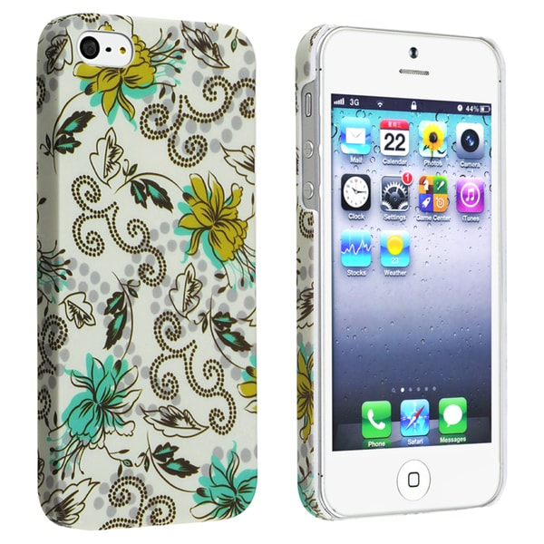 BasAcc Flower Style 60 Snap-on Rubber Coated Case for Apple iPhone 5