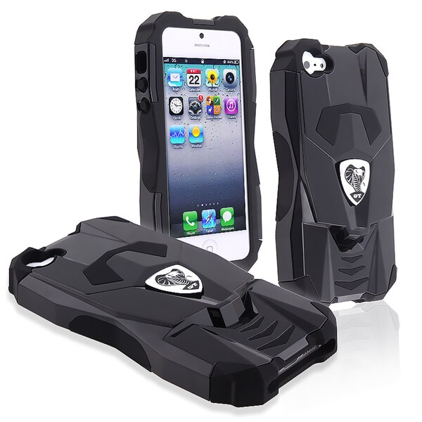 BasAcc Black/ Black Sports Car Hybrid Case for Apple® iPhone 5
