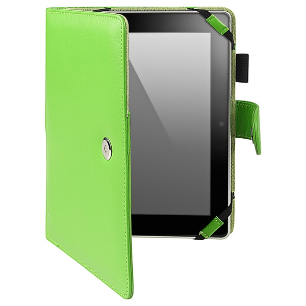 INSTEN Green Leather Phone Case Cover for Amazon Kindle Fire HD 7-inch