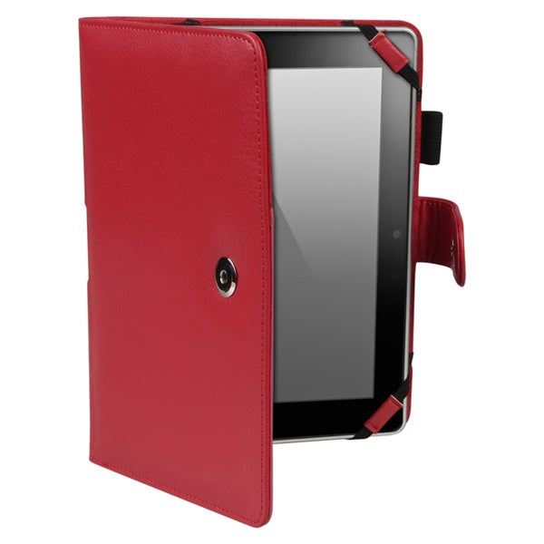 BasAcc Red Leather Case for Amazon Kindle Fire HD 7-inch
