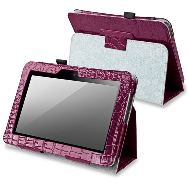 BasAcc Purple Leather Case with Stand for Amazon Kindle Fire 7-inch
