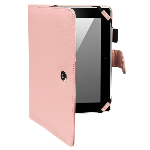 INSTEN Pink Leather Phone Case Cover for Amazon Kindle Fire HD 8.9-inch