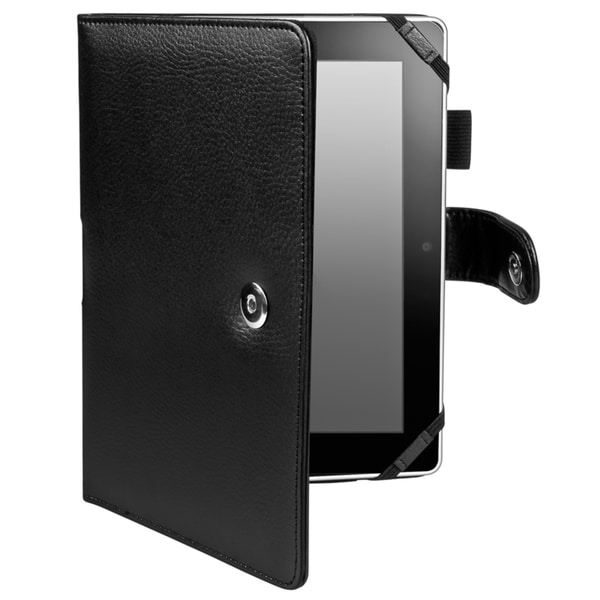 INSTEN Black Leather Phone Case Cover for Amazon Kindle Fire HD 8.9-inch