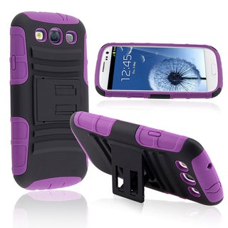 BasAcc Hybrid Case with Stand for Samsung Galaxy SIII/ S3