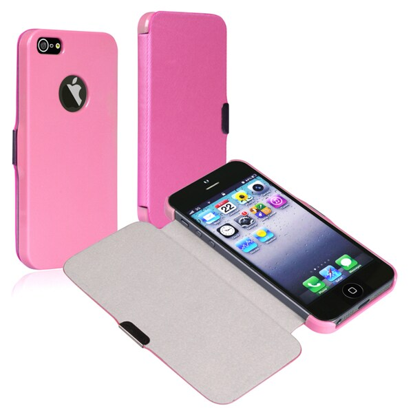 BasAcc Light Pink Leather Case with Magnetic Flap for Apple® iPhone 5