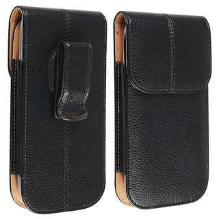 BasAcc Leather Case with Belt Clip for Samsung Galaxy S III / S3