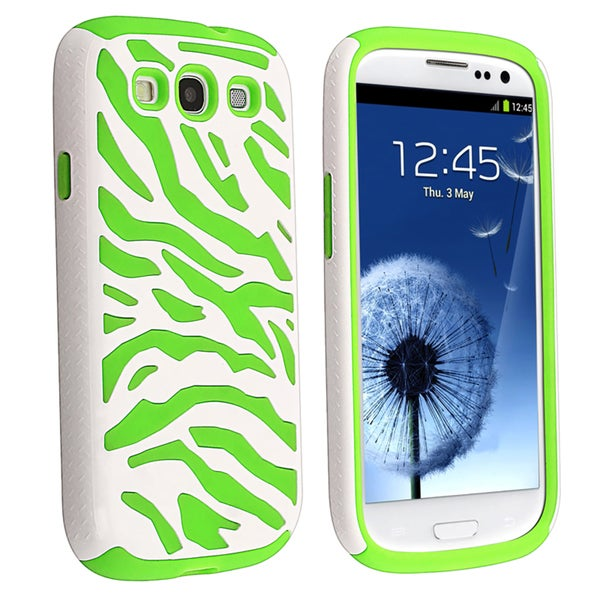 BasAcc Neon Green/ White Hybrid Case for Samsung© Galaxy SIII/ S3