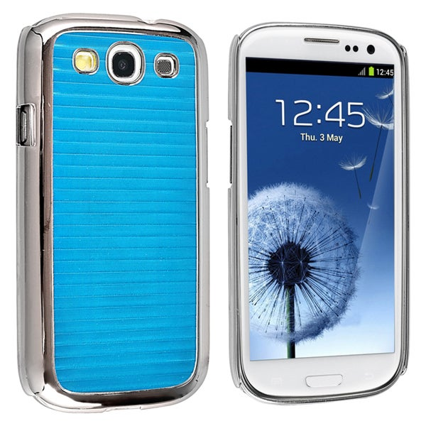 BasAcc Blue Stripe Snap-on Case for Samsung© Galaxy SIII / S3