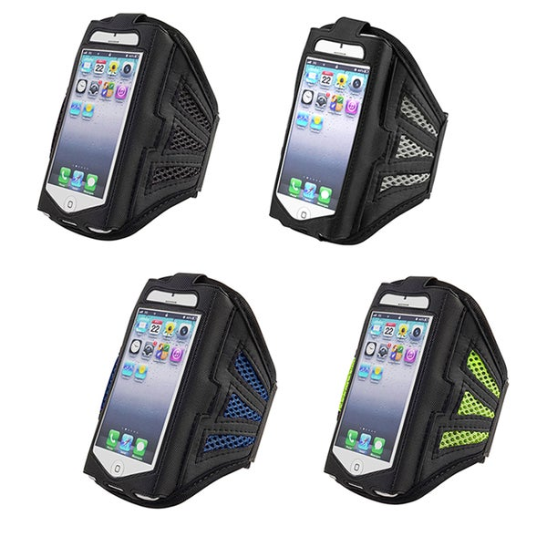 INSTEN Deluxe Black/ Purple ArmBand for Apple iPhone 5/ 5S/ 5C/ SE, iPod