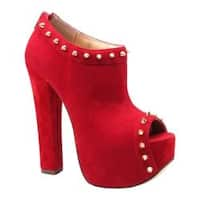 Women's Luichiny Mighty Miss Red Imi Suede