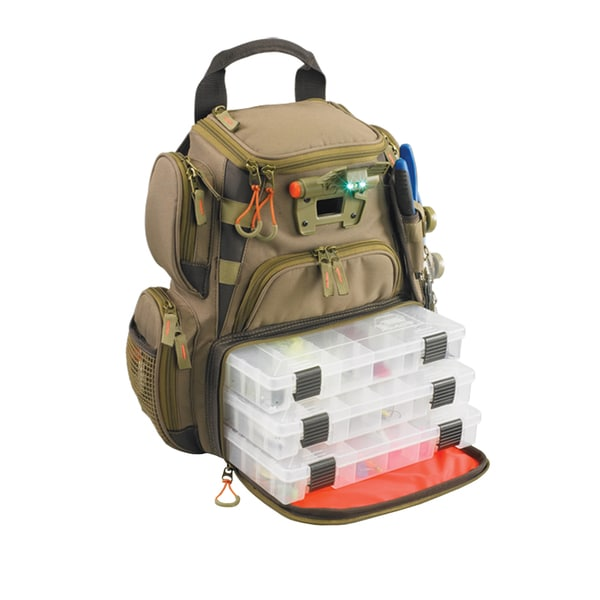 Wild River Tackle Tek Recon Lighted LED Tackle Backpack with 4 Trays