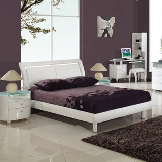 'Emily' White Queen Bed with Storage Area