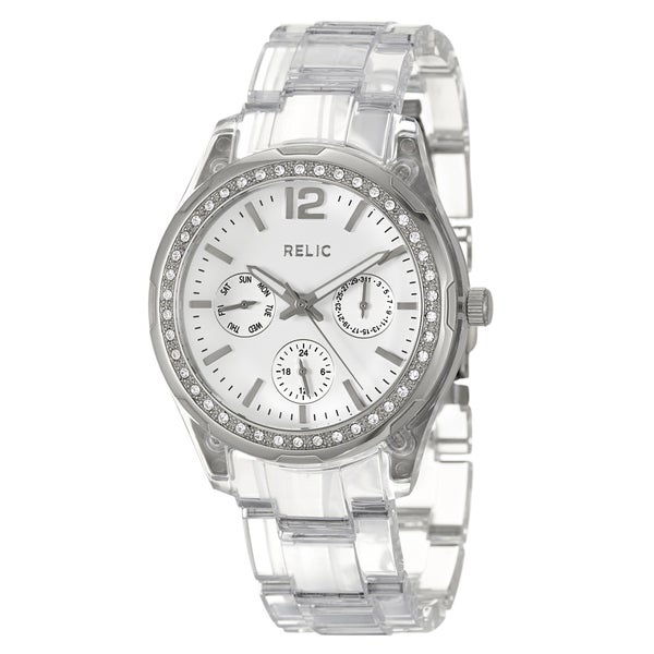 Relic by Fossil Women's 'Starla' Stainless Steel and Resin Military Time Watch