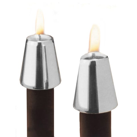 Silver-plated Candle Followers (Set of 2)