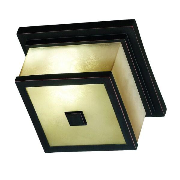 Abriella 6-inch Bronze Finish 2-light Flush Mount