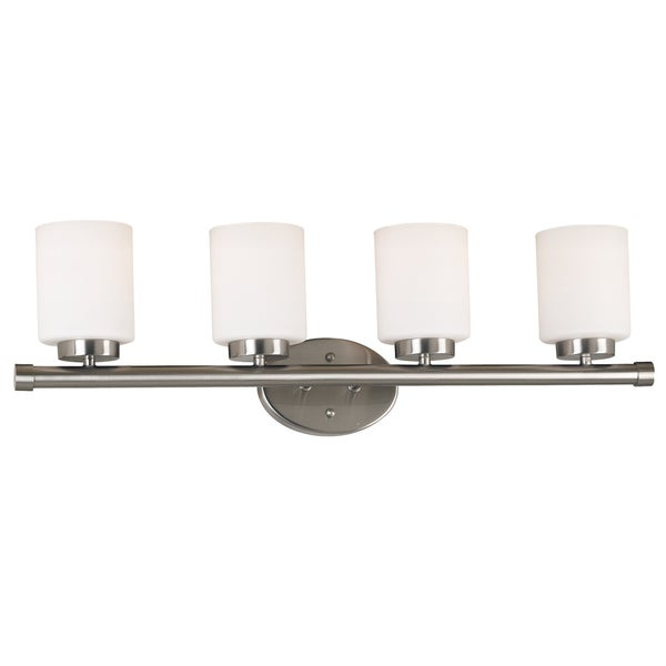 overstock bathroom vanity lights cupello four light vanity free shipping today 19839