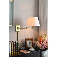 Copper Grove Anticosti Vintage Brass Wall Swing Arm Lamp