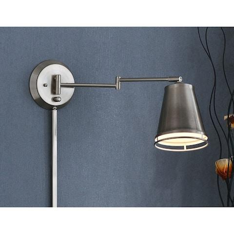 Carbon Loft Ida Wall Swing Arm Light - Silver