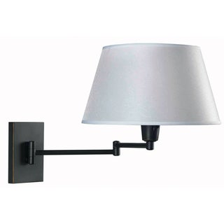 Design Craft Tustin Blackened Oil-rubbed Bronze Metal Wall Swing-arm Light