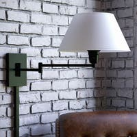 Tustin Blackened Oil Rubbed Bronze Wall Swing-Arm Light