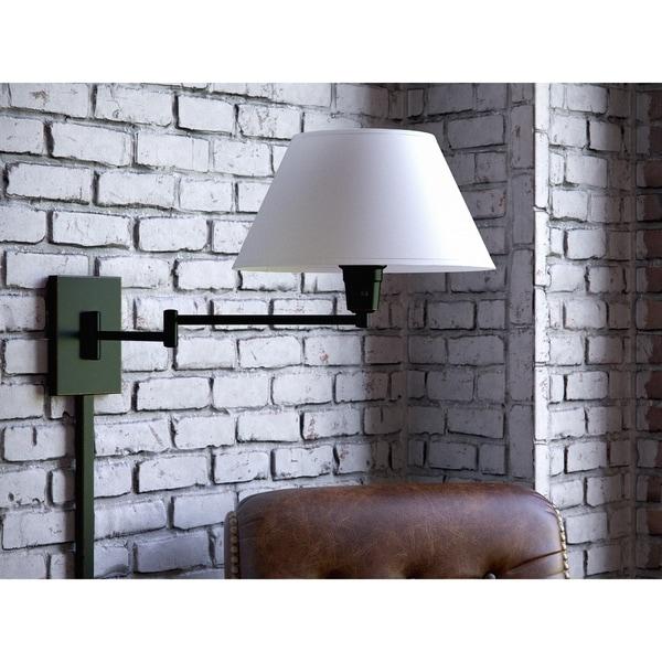 Tustin Blackened Oil Rubbed Bronze Wall Swing-Arm Light