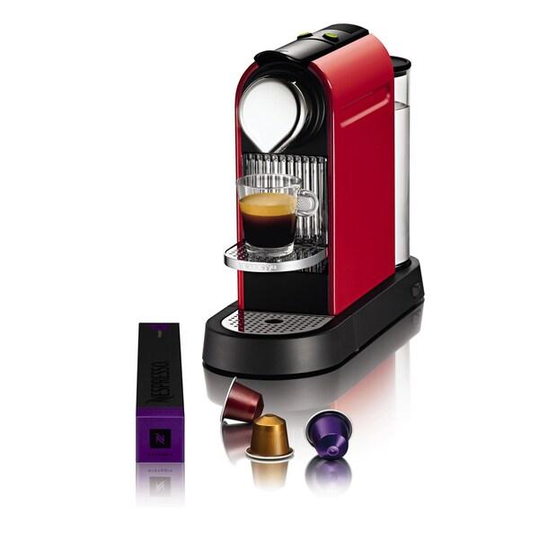 Nespresso CitiZ Red Espresso Maker (Refurbished)