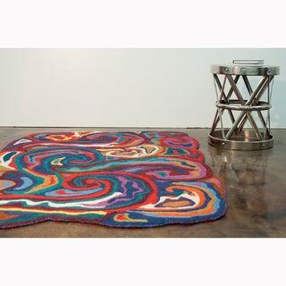 Shop Flat Weave Zoey Multi Wool Rug 5 0 X 7 6 Free