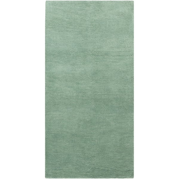 Handwoven Borgholm Silt Green Plush Shag New Zealand Wool
