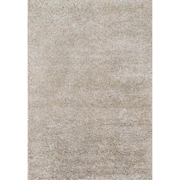 Hand-woven Nolan Silver Wool Rug