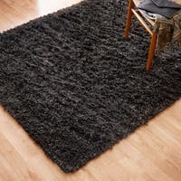Hand-woven Nolan Black/ Multi Wool Rug