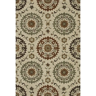 Hand-tufted Wilson Ivory/ Sage Wool Rug