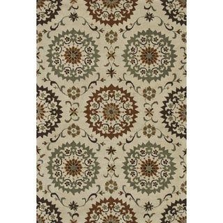 Hand-tufted Wilson Ivory/ Sage Wool Rug