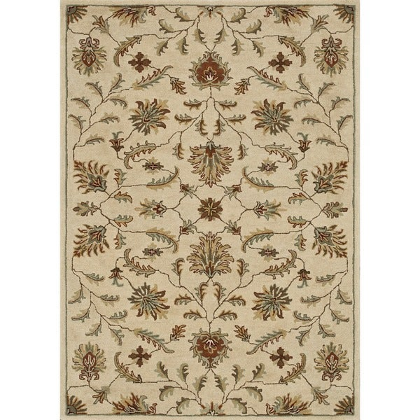 Hand-tufted Wilson Ivory Wool Rug