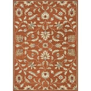 Hand-tufted Wilson Rust Wool Rug