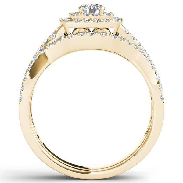 Shop De Couer Igi Certified 10k White Gold 7 8ct Tdw Diamond