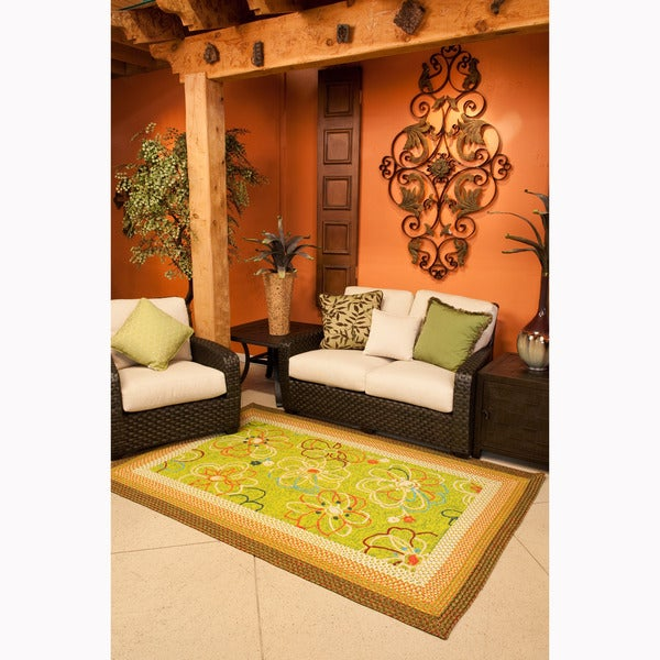 Hand-hooked Frontier Lime Rug