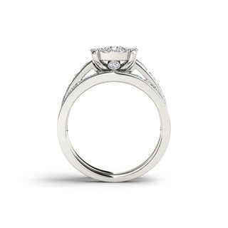 De Couer 10k Gold 1 1/2ct TDW Diamond Engagement Ring Set (H-I, I2-I3)