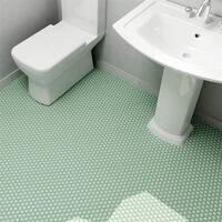 SomerTile 10.25x11.75-inch Victorian Hex Matte Light Green Porcelain Mosaic Floor and Wall Tile (10 tiles/8.54 sqft.)