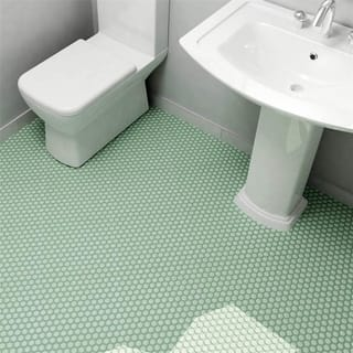 Somertile 10 25x11 75 Inch Victorian Hex Matte Light Green Porcelain Mosaic Floor And