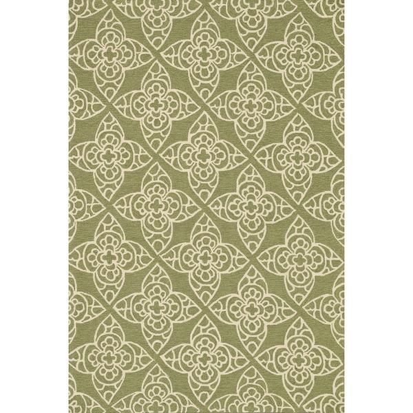 Hand-hooked Savannah Green Rug (7'6 x 9'6)