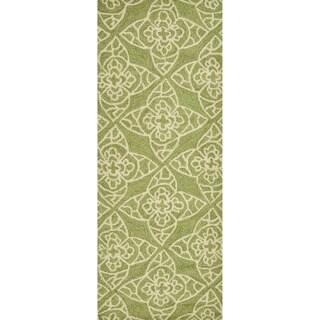 Hand-hooked Savannah Green Rug (2'0 x 5'0)