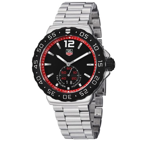 Tag Heuer Men's WAU1114.BA0858 'Formula 1' Black Dial Stainless Steel Quartz Watch